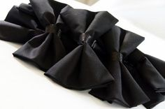 james bond party | Be Envied Entertaining - bowtie napkins
