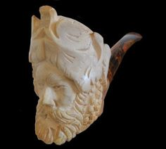Turk's-Head Meerschaum Pipe E Pipe, Meerschaum Pipe, Pipes And Cigars, Tobacco Pipes, Ice Cream, Desserts, Accessories, Food, Sherbet Ice Cream