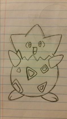 I drew Togepi! So cute! (No repins)