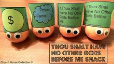Thou Shalt Have No Other Gods Before Me Snack For Kids - For The 10 Commandments
