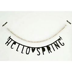#Wordbanner #tip: Hello spring - Buy it at www.vanmariel.nl - € 11,95