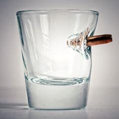 BenShot Bulletproof - Shot Glass With Real Bullet