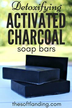 This DIY activated charcoal soap recipe removes toxins from the surface of the skin, provides gentle exfoliation & is safe enough to be used on the face. via @thesoftlanding