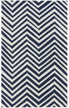 DINING ROOM Rugs USA Homespun Chevron Navy Blue Rug