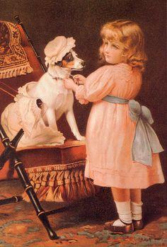 """Dressup"" by Charles Burton Barber (1845 – 1894, English)"