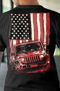 What are you wearing to the cookout? Grab yourself one of these Jeep flag Tees right here. https://teespring.com/618-4416-002?var=pin