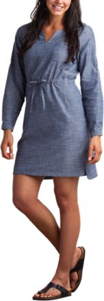 ExOfficio Sol Cool Chambray Dress Indigo