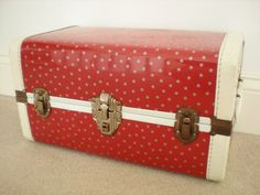 Vintage Shiny Red Trunk