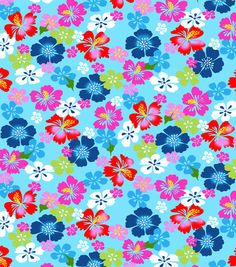 Cellphone Wallpaper, Iphone Wallpaper, Beach Print, Online Craft Store, Paper Beads, Tropical Flowers, Joanns Fabric And Crafts, Cool Patterns, Blue Fabric
