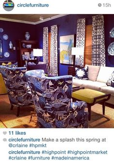 High Point Furniture Market 2014 IMAGES | Calling it Home: Blue and White High Point Market