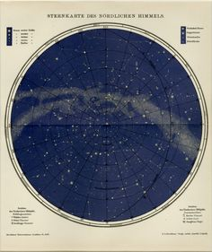 This fantastic and unique piece of art is a double page chromolithograph. It was printed in Germany in 1899, and is over 120 years old. It depicts the details of the Star Constellations of the Southern Sky and comes with the original onion skin cover page. This cover page, when laid atop the map (as seen in photos above), shows the names and locations of all the constellations. The cover sheet is no longer attached, but will accompany the print. We have mounted this piece in professional…