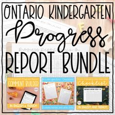 Ontario Kindergarten Progress Report Bundle (French & English) | TpT Report Card Comments, Progress Report, Numeracy, Teacher Newsletter, Ontario, Leadership, Kindergarten, Teaching, Education