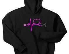 Heartbeat Stethoscope Racerback Tank Top Shirt by TANTRUMTEES