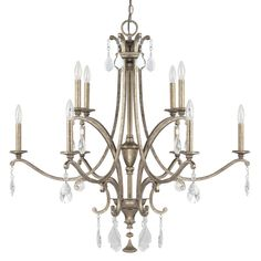 View the Capital Lighting 4390-000 The Montclaire Collection 10 Light 2 Tier Candle Style Chandelier at LightingDirect.com.