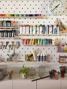 Craft Supply Storage + Organization Ideas