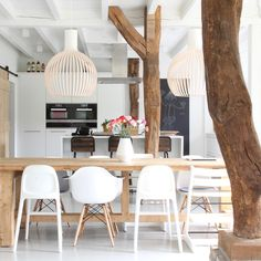 What a lovely home in the Netherlands with Octo pendants!