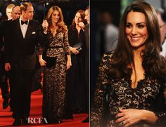 Catherine, Duchess of Cambridge In Alice by Temperley – 'War Horse' London Premiere