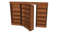 Hidden Door Bookcase and DIY Steps: Hidden Door Bookcase Plans ~ emsorter.com Interior Designs Inspiration