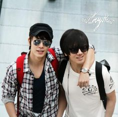 at the airport ~ Donghae & Yesung