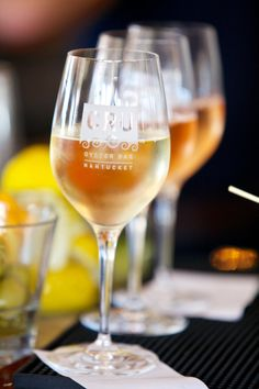 Sip | Cru Nantucket in Nantucket, MA | great views of the harbor. Great seafood and wine too :)