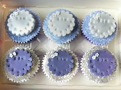 Purple and Silver Eid Mubarak Cupcakes Can be used for any occasion - birthday, anniversary, wedding etc... Available @ Nel's Cake Boutique (Facebook)
