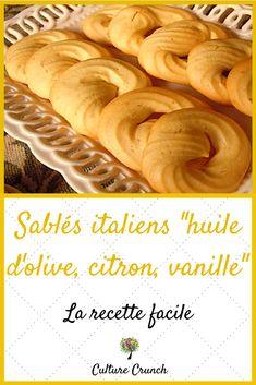 """Sablés italiens """"huile d'olive, citron, vanille"""" : la recette facile"""