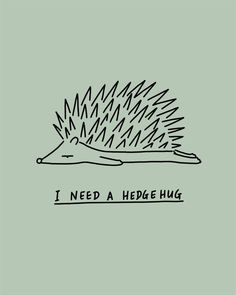Fun, humour, feel good art by Lim Heng Swee. Cute Puns, Funny Puns, Funny Quotes, Hedgehog Illustration, Illustration Art, Animal Puns, Hedgehog Art, Cute Doodles, Cute Art