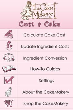 Cost a cake - works on how much should you charge for your cakes based on ingredients etc?