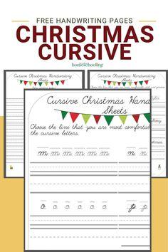 Cursive Handwriting Sheets, Cursive Chart, Printable Handwriting Worksheets, Printable Preschool Worksheets, Cursive Letters, Free Printables, Free Preschool, 1st Grade Math, Grade 2
