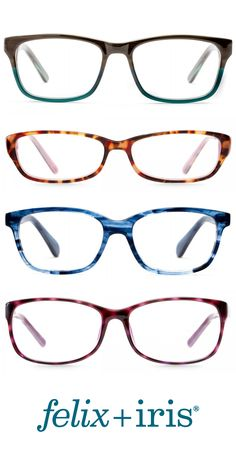 4 Gorgeous Colorful Frames for Round Faces | felix + iris glasses