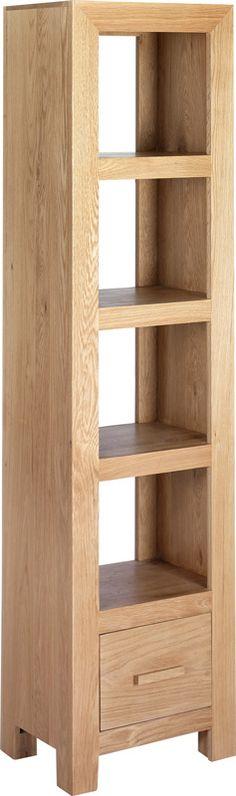 Cuba Cube Oak Slim Bookcase