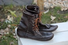 Leather Moccasin Boots buffalo bison by by KlutchCreations on Etsy, $350.00