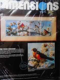 Dimensions The Four Seasons Crewl 1336 Mario Fernandez 1987 for sale online Crewel Embroidery Kits, Embroidery Designs, Sailing Outfit, Four Seasons, Live Life, Print Design, Joy, Birds, Mini