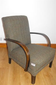 Harris Tweed Chair, like the piping detail and run of upholstery nails