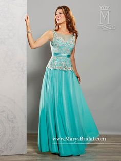 A-Line Mother of the Bride Gown M2719