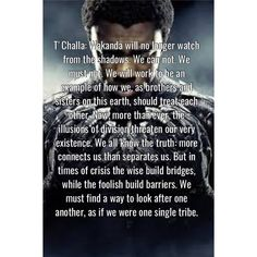 The best quote of the black panther - Marvel Comics