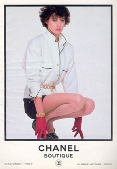 Ines de la Fressange in Chanel - 1986 - Back to the 80s