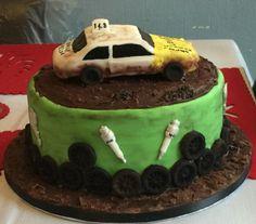 banger racing car cake
