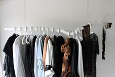 DIY branch wardrobe.  beautiful. simple.  full instructions on link