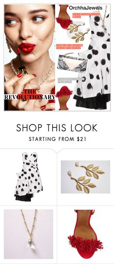 """Orchhajewels"" by teoecar ❤ liked on Polyvore featuring KAROLINA, Marc by Marc Jacobs, Aquazzura, modern, cassiopeiafall and orchhajewels"