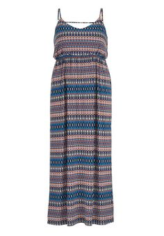multicolor patterned plus size maxi dress with bar back