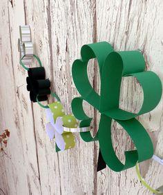 Paper Shamrock Chain craft, clover craft, St. Patrick's Day Craft