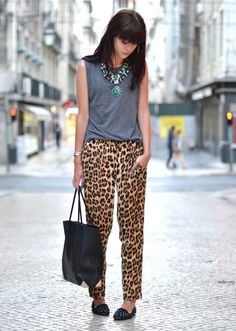 Printed pants for summer