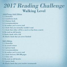 2017 Reading Challenge! For more details: http://smithsonthecoast.blogspot.com/