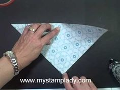 Handmade Patterned Paper cone - YouTube