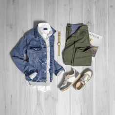 Spring is trying is hardest to make an appearance in the Midwest! #grabergrid - Denim Jacke