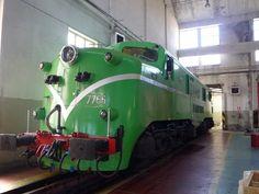 Locomotora eléctrica 7766 (277-066-7). (English Electric, Vulcan Foundry, Westinghouse, Gran Bretaña, 1958) Cesión: Asociación Leonesa de Amigos del Ferrocarril, ALAF Pieza IG: 01449