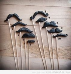 Kit moustaches con palo