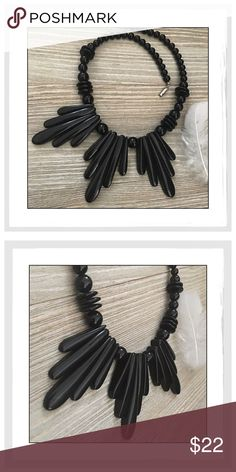 "✨Vintage Black Plastic Bead Statement Necklace✨ ✨Vintage Black Plastic Bead Statement Necklace✨Another Cool Circa 1970s Black Bead And Black Hanging Accent Statement Necklace✨Acquired With Other Vintage 60s And 70s Pieces✨Measures Approx 20""Long✨In Lovely Condition✨ Vintage Jewelry Necklaces"