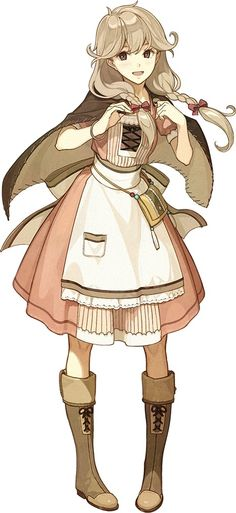 Faye character artwork from Fire Emblem Echoes: Shadows of Valentia Faye character artwork from Fire Emblem Echoes: Shadows of Valentia [. Girls Characters, Fantasy Characters, Female Characters, Chibi, Fire Emblem, Character Concept, Character Art, Farmer Outfit, Fantasy Village
